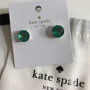 New Kate Spade Light Green Stud Earrings